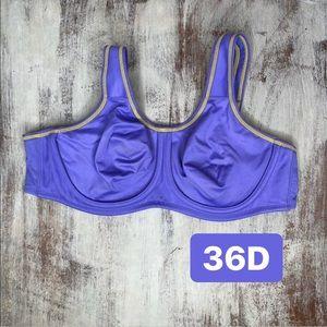 Wacoal purple Unlined Full Coverage sports bra 36D